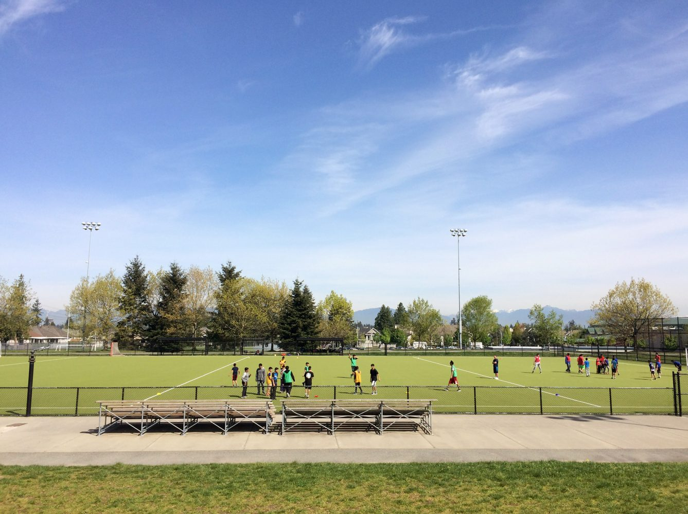 Outdoor Turf Soccer Field