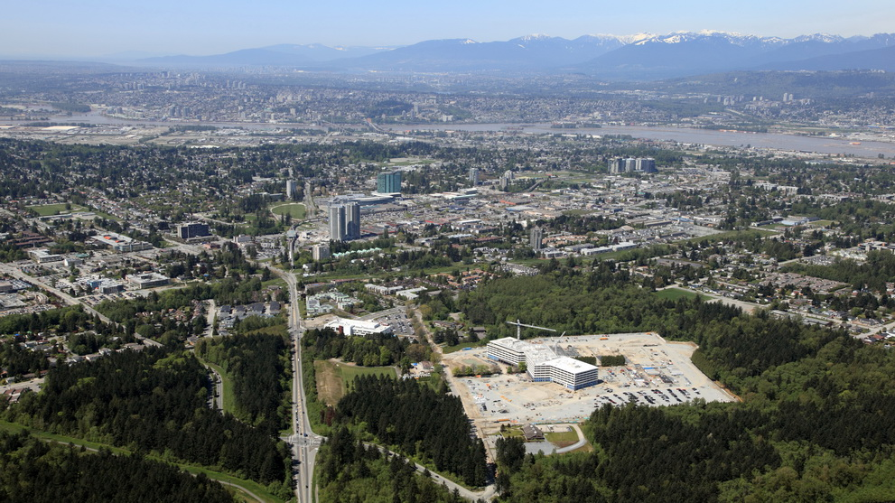Aerial View of Surrey, BC